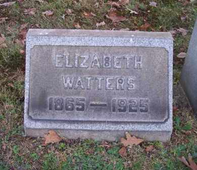 WATTERS, ELIZABETH - Columbiana County, Ohio | ELIZABETH WATTERS - Ohio Gravestone Photos