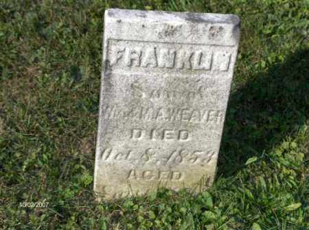 WEAVER, BENJAMIN FRANKLIN - Columbiana County, Ohio | BENJAMIN FRANKLIN WEAVER - Ohio Gravestone Photos