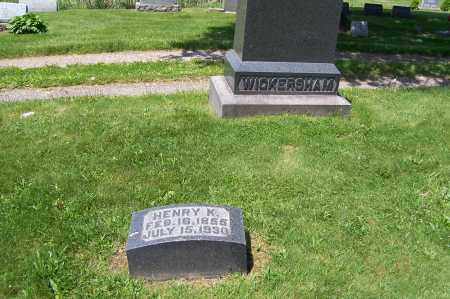 WICKERSHAM, HENRY - Columbiana County, Ohio | HENRY WICKERSHAM - Ohio Gravestone Photos