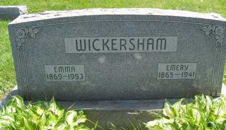 WALKER WICKERSHAM, EMMA - Columbiana County, Ohio | EMMA WALKER WICKERSHAM - Ohio Gravestone Photos