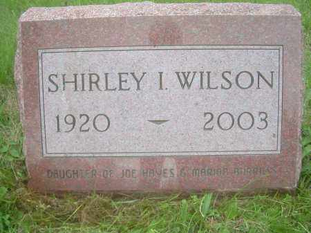 HAYES WILSON, SHIRLEY IDA - Columbiana County, Ohio | SHIRLEY IDA HAYES WILSON - Ohio Gravestone Photos