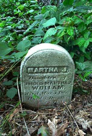 WOLLAM, MARTHA J. - Columbiana County, Ohio | MARTHA J. WOLLAM - Ohio Gravestone Photos