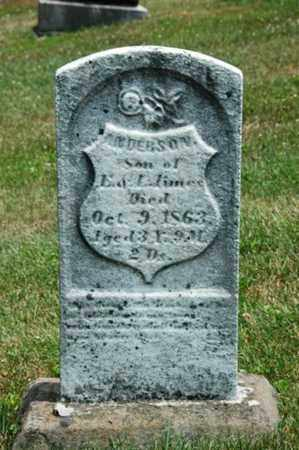AMES, ANDERSON - Coshocton County, Ohio | ANDERSON AMES - Ohio Gravestone Photos