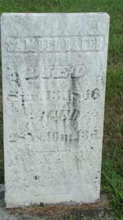BAKER, SAMUEL - Coshocton County, Ohio | SAMUEL BAKER - Ohio Gravestone Photos
