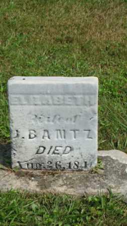 BAMTZ, ELIZABETH - Coshocton County, Ohio | ELIZABETH BAMTZ - Ohio Gravestone Photos