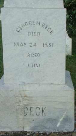 BECK, GEORGE - Coshocton County, Ohio   GEORGE BECK - Ohio Gravestone Photos