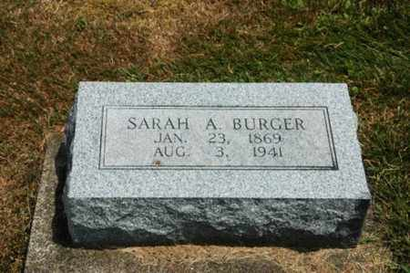 BURGER, SARAH A. - Coshocton County, Ohio | SARAH A. BURGER - Ohio Gravestone Photos