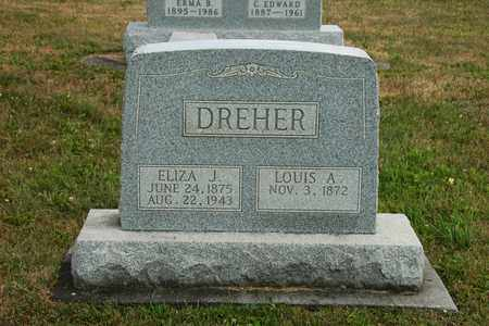 DREHER, ELIZA J. - Coshocton County, Ohio | ELIZA J. DREHER - Ohio Gravestone Photos
