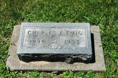 EMIG, CHARLES E. - Coshocton County, Ohio | CHARLES E. EMIG - Ohio Gravestone Photos