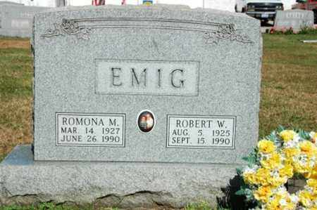 EMIG, ROMONA M. - Coshocton County, Ohio | ROMONA M. EMIG - Ohio Gravestone Photos