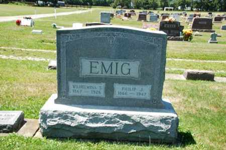 EMIG, WILHELMINA - Coshocton County, Ohio | WILHELMINA EMIG - Ohio Gravestone Photos