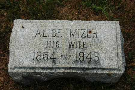 MIZER EVERHART, ALICE - Coshocton County, Ohio | ALICE MIZER EVERHART - Ohio Gravestone Photos