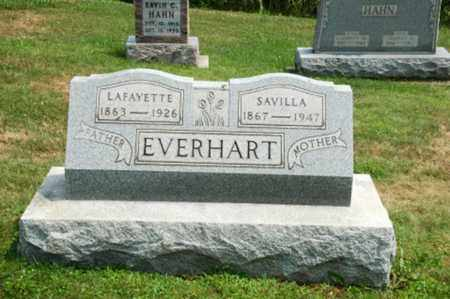 SPRANKLE EVERHART, SAVILLA - Coshocton County, Ohio | SAVILLA SPRANKLE EVERHART - Ohio Gravestone Photos