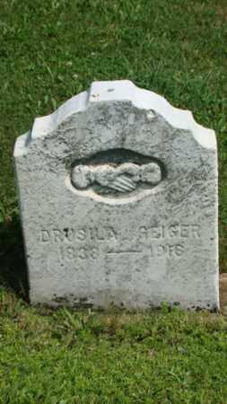 GEIGER, DRUSILA - Coshocton County, Ohio | DRUSILA GEIGER - Ohio Gravestone Photos