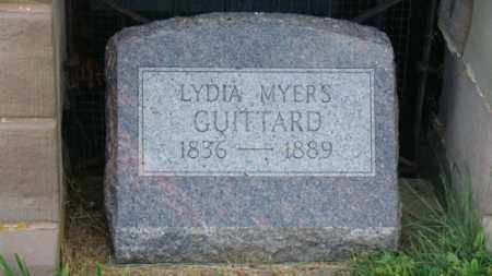 MYERS GUITTARD, LYDIA - Coshocton County, Ohio | LYDIA MYERS GUITTARD - Ohio Gravestone Photos