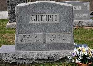 GUTHRIE, ALICE K. - Coshocton County, Ohio | ALICE K. GUTHRIE - Ohio Gravestone Photos
