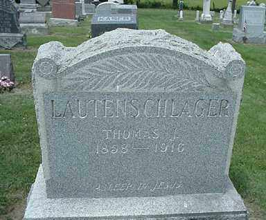 LAUTENSCHLAGER, THOMAS - Coshocton County, Ohio | THOMAS LAUTENSCHLAGER - Ohio Gravestone Photos