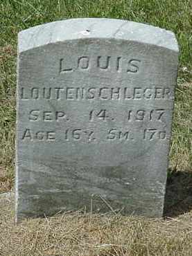 LOUTENSCHLEGER, LOUIS - Coshocton County, Ohio | LOUIS LOUTENSCHLEGER - Ohio Gravestone Photos