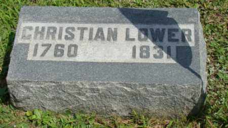LOWER, CHRISTIAN - Coshocton County, Ohio | CHRISTIAN LOWER - Ohio Gravestone Photos