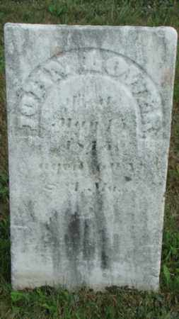 LOWER, JOHN - Coshocton County, Ohio | JOHN LOWER - Ohio Gravestone Photos