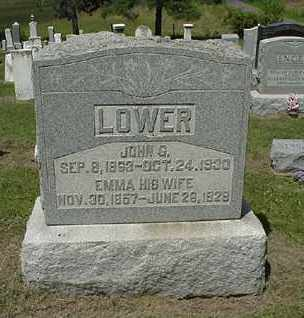 LOWER, JOHN G. - Coshocton County, Ohio | JOHN G. LOWER - Ohio Gravestone Photos