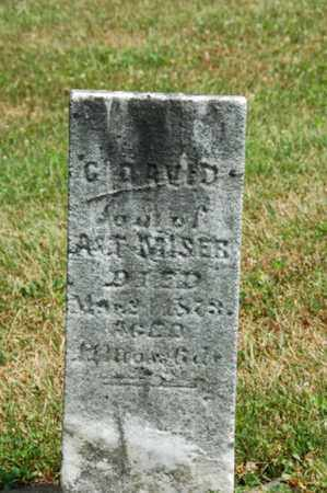 MISER, G. DAVID - Coshocton County, Ohio | G. DAVID MISER - Ohio Gravestone Photos