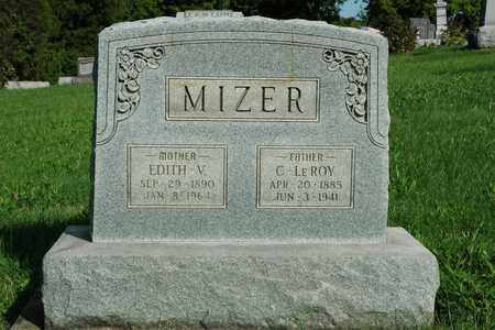 MIZER, EDITH V. - Coshocton County, Ohio | EDITH V. MIZER - Ohio Gravestone Photos