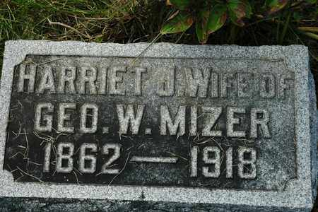 MIZER, HARRIET J. - Coshocton County, Ohio | HARRIET J. MIZER - Ohio Gravestone Photos