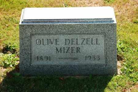 DELZELL MIZER, OLIVE - Coshocton County, Ohio | OLIVE DELZELL MIZER - Ohio Gravestone Photos