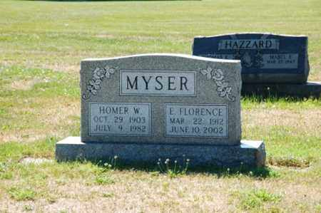 MYSER, HOMER W. - Coshocton County, Ohio | HOMER W. MYSER - Ohio Gravestone Photos