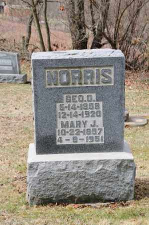 NORRIS, MARY J - Coshocton County, Ohio | MARY J NORRIS - Ohio Gravestone Photos