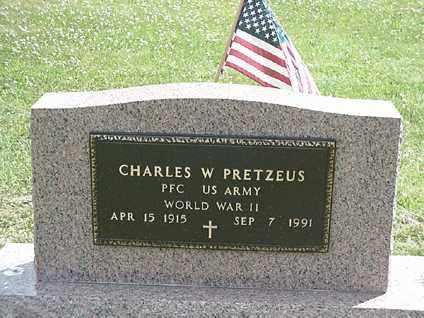 PRETZEUS, CHARLES W. - Coshocton County, Ohio | CHARLES W. PRETZEUS - Ohio Gravestone Photos