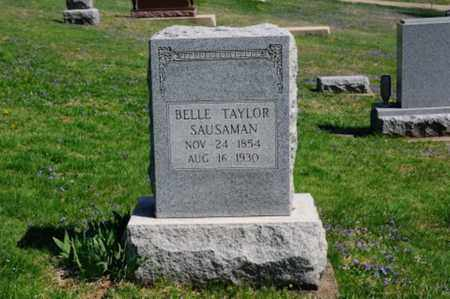TAYLOR SAUSAMAN, BELLE - Coshocton County, Ohio | BELLE TAYLOR SAUSAMAN - Ohio Gravestone Photos