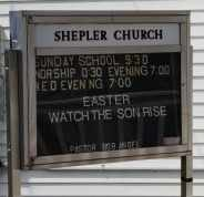 SHEPLER, CHURCH SIGN - Coshocton County, Ohio | CHURCH SIGN SHEPLER - Ohio Gravestone Photos