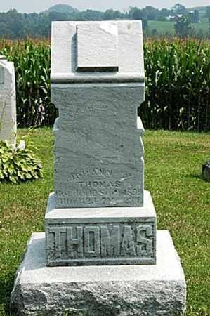 THOMAS, JOHANN R. - Coshocton County, Ohio | JOHANN R. THOMAS - Ohio Gravestone Photos
