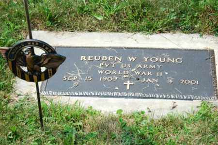 YOUNG, REUBEN W. - Coshocton County, Ohio | REUBEN W. YOUNG - Ohio Gravestone Photos