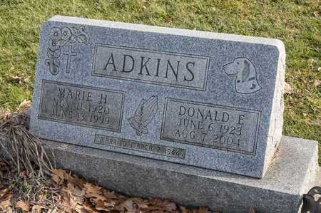 ADKINS, DONALD E - Crawford County, Ohio | DONALD E ADKINS - Ohio Gravestone Photos