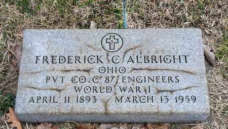 ALBRIGHT, FREDERICK C - Crawford County, Ohio | FREDERICK C ALBRIGHT - Ohio Gravestone Photos