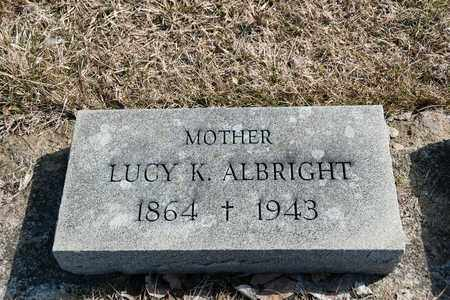 ALBRIGHT, LUCY K - Crawford County, Ohio | LUCY K ALBRIGHT - Ohio Gravestone Photos