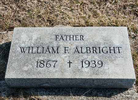 ALBRIGHT, WILLIAM F - Crawford County, Ohio | WILLIAM F ALBRIGHT - Ohio Gravestone Photos