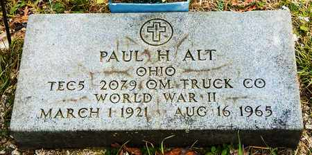 ALT, PAUL H - Crawford County, Ohio | PAUL H ALT - Ohio Gravestone Photos