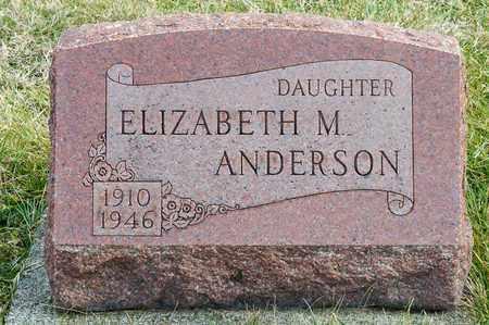 ANDERSON, ELIZABETH M - Crawford County, Ohio | ELIZABETH M ANDERSON - Ohio Gravestone Photos