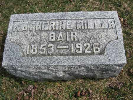 BAIR, KATHERINE - Crawford County, Ohio | KATHERINE BAIR - Ohio Gravestone Photos