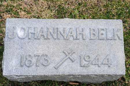 BELK, JOHANNAH - Crawford County, Ohio | JOHANNAH BELK - Ohio Gravestone Photos