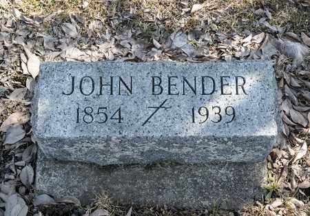 BENDER, JOHN - Crawford County, Ohio | JOHN BENDER - Ohio Gravestone Photos