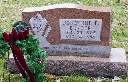 BENDER, JOSEPHINE E - Crawford County, Ohio | JOSEPHINE E BENDER - Ohio Gravestone Photos