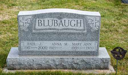 BLUBAUGH, MARY ANN - Crawford County, Ohio | MARY ANN BLUBAUGH - Ohio Gravestone Photos
