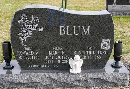 BLUM, MARY N - Crawford County, Ohio | MARY N BLUM - Ohio Gravestone Photos
