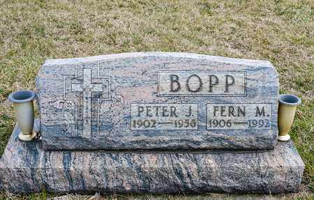 BOPP, PETER J - Crawford County, Ohio | PETER J BOPP - Ohio Gravestone Photos