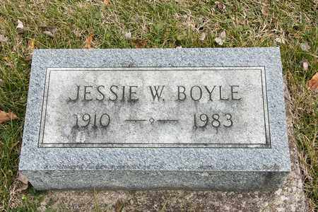 BOYLE, JESSIE W - Crawford County, Ohio | JESSIE W BOYLE - Ohio Gravestone Photos
